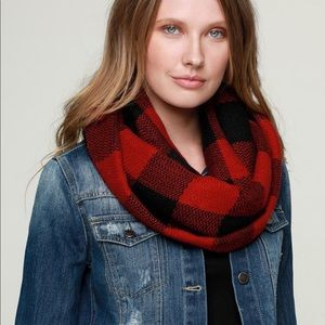 shopBossyJocey Accessories - Jocelyn Red Buffalo Check Infinity Scarf